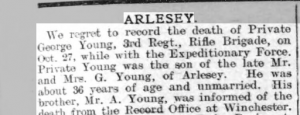 George Young Beds Times & Indep 4 Dec 1914