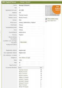 1891 census GSH