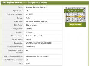 1911 census GSH