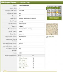 1911 census LF