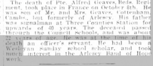 Alfred Graves Beds Times & Indep 26 Oct 1917