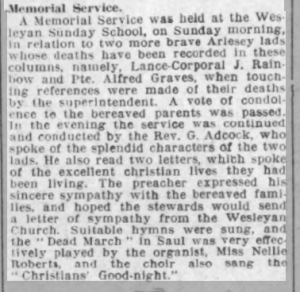 Alfred Graves Biggs Chron 2 Nov 1917