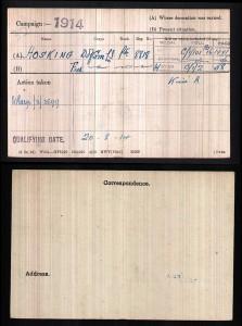 Fred Hosking medal roll