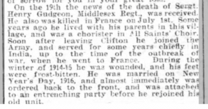 Henry Gudgeon Beds Times & Indep 28 July 1916