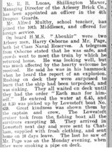 Maltby & Page Beds Times & Indep 2 Oct 1914