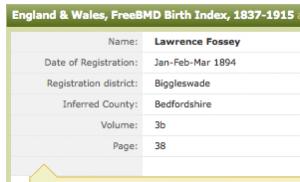 birth index LF