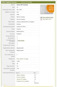 1901 census JWC