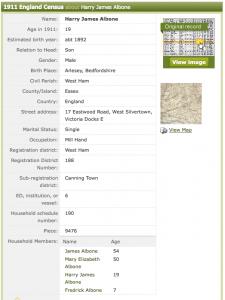 1911 census HJA
