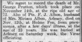 F Albon Bigg Chron 29 Nov 1918