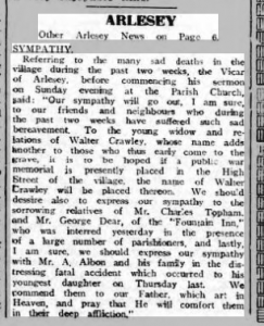 Walter Crawley Biggs Chron 3 Feb 1922