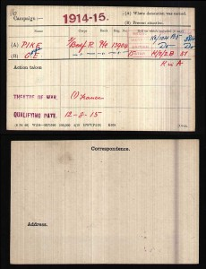 George_Pike_Medal_Record